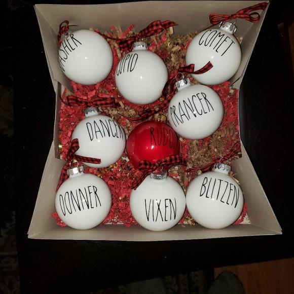 Rae Dunn Inspired Christmas Ornaments Nwt